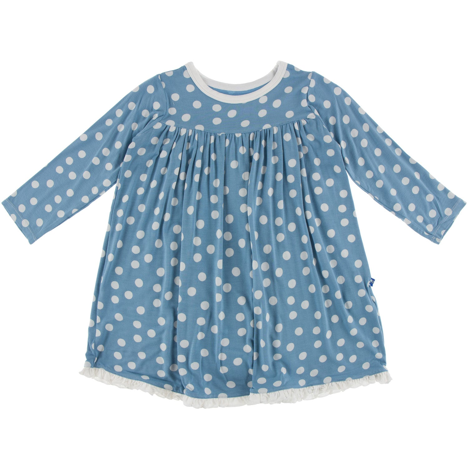KicKee Pants Swing Dress - Blue Moon Snowballs