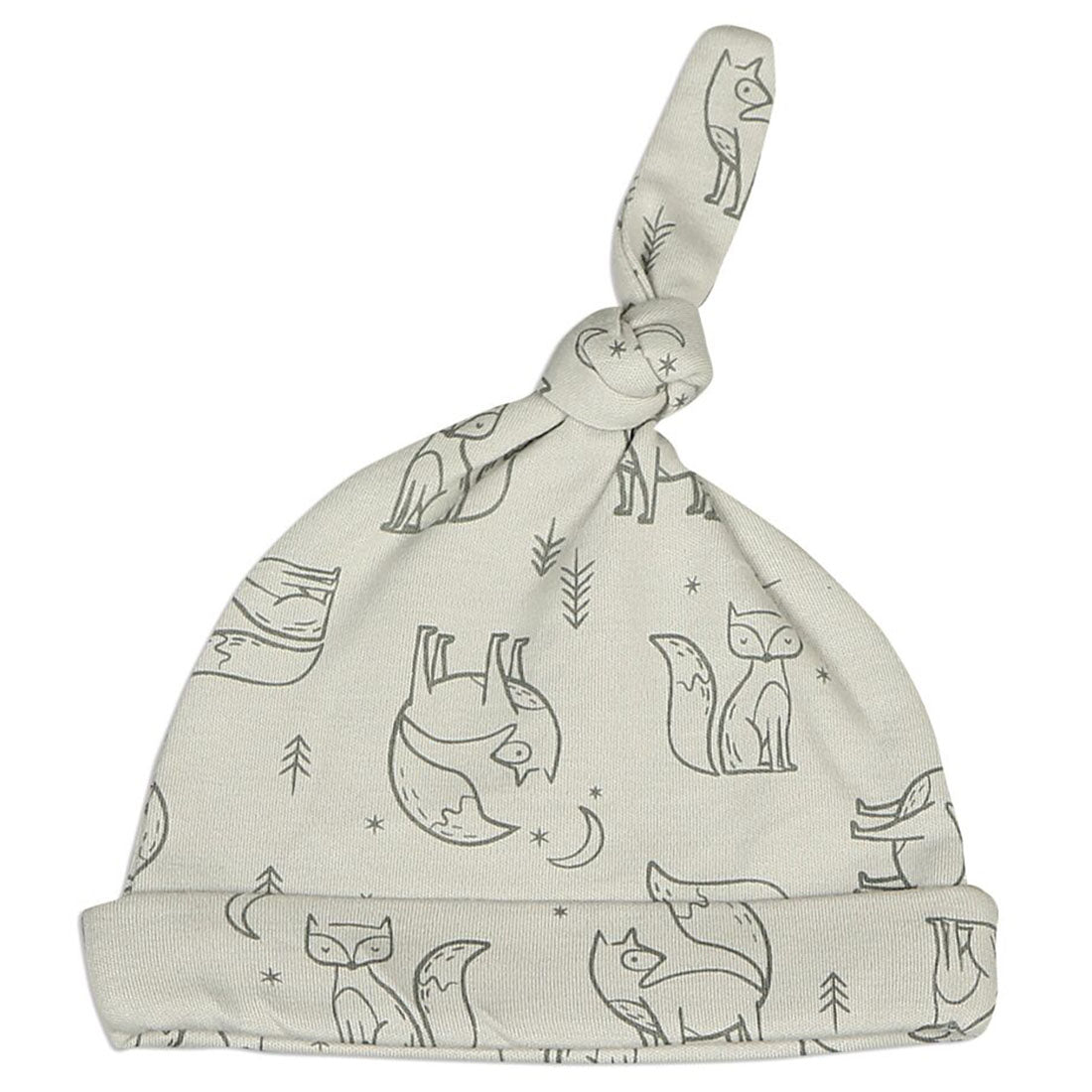 Silkberry Baby Organic Cotton Knot Hat Glacier Fox