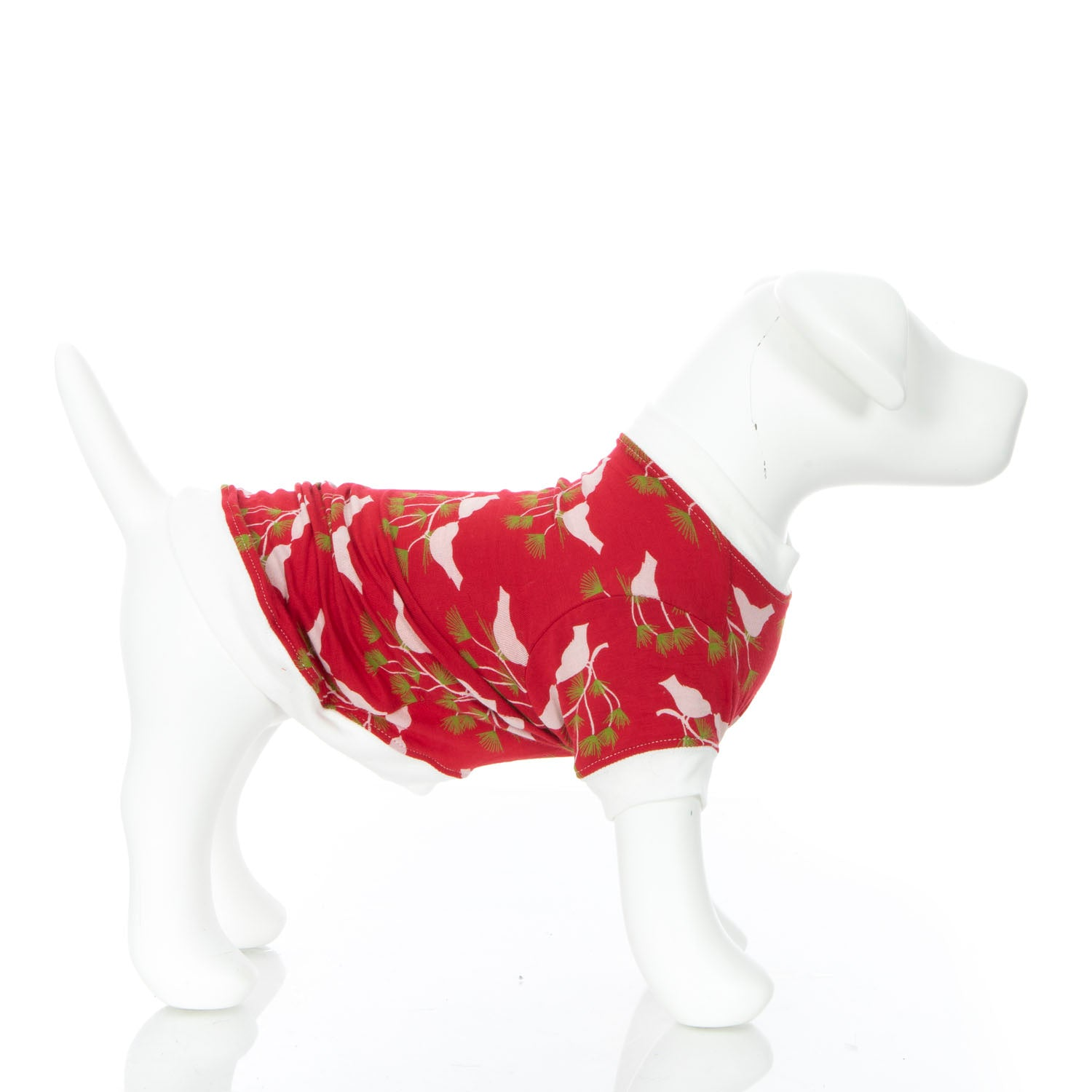 Kickee Pants Dog Tee - Crimson Kissing Birds