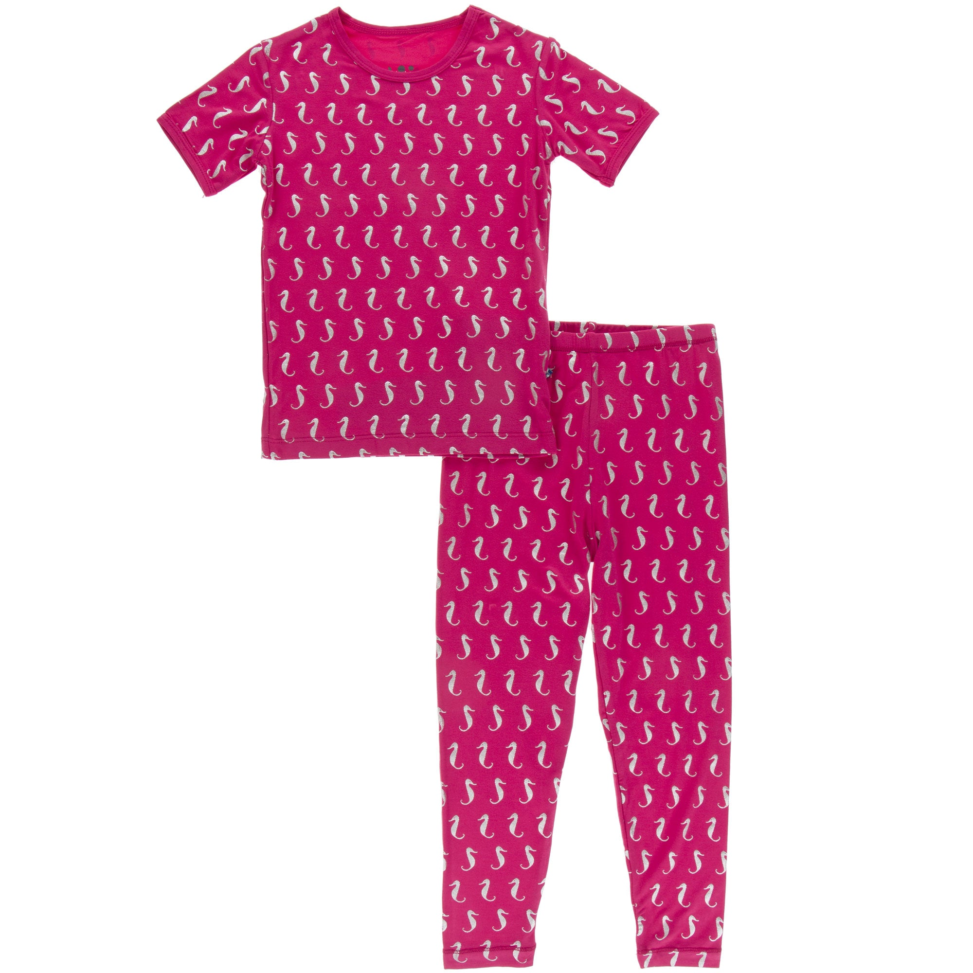 KicKee Pants Short Sleeve Pajama Set - Prickly Pear Mini Seahorse