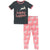 KicKee Pants Short Sleeve Pajama Set - Strawberry Forest Rabbit