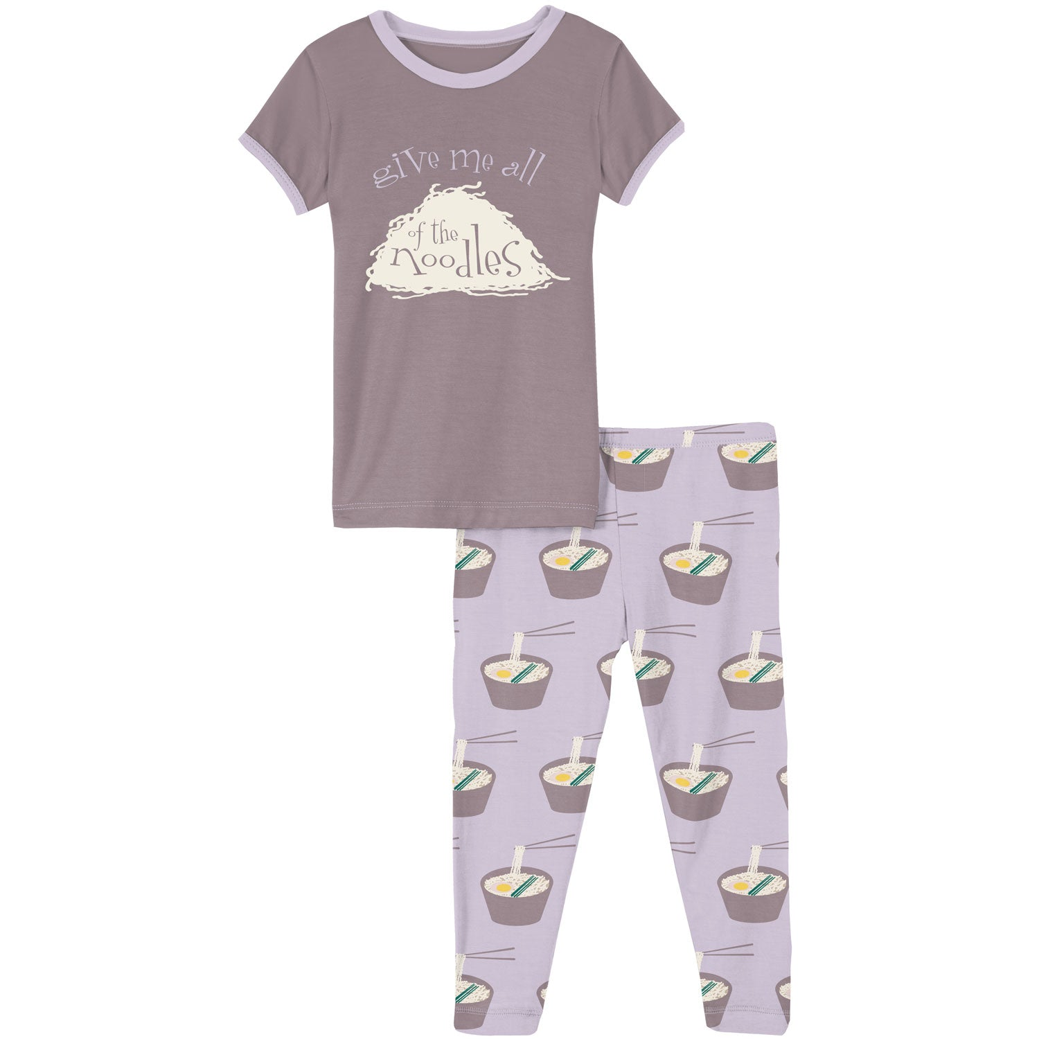 KicKee Pants Short Sleeve Pajama Set - Thistle Ramen