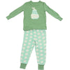 Silkberry Baby Bamboo Long Sleeve Pajama Set - Pear