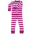 New Jammies Organic Long Sleeve Pajama Set Mulberry Stripe