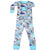 New Jammies Organic Long Sleeve Pajama Set Dino Jungle