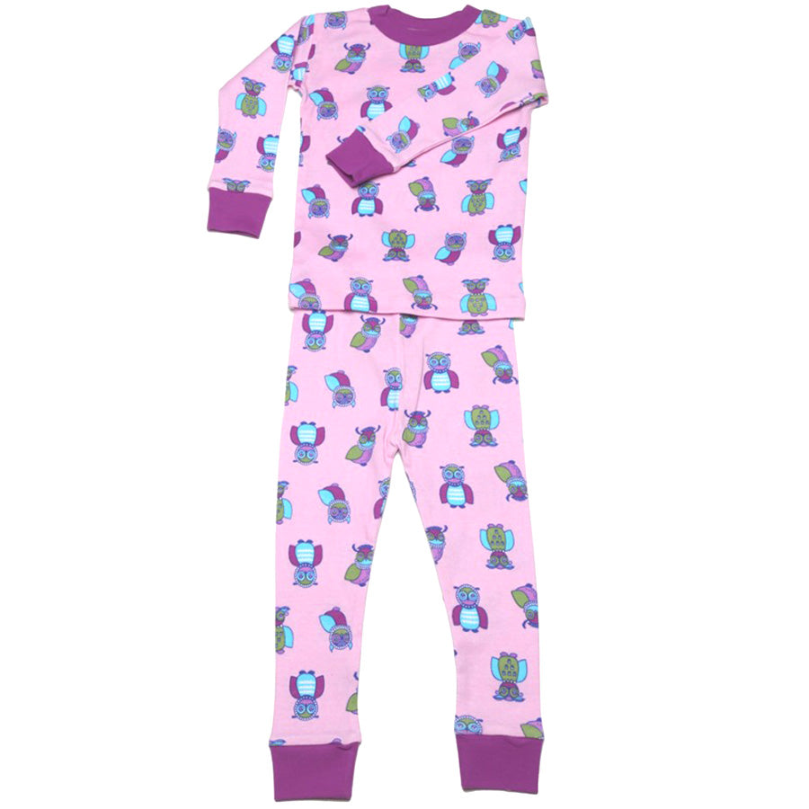 New Jammies Organic Long Sleeve Pajama Set Wise Owls