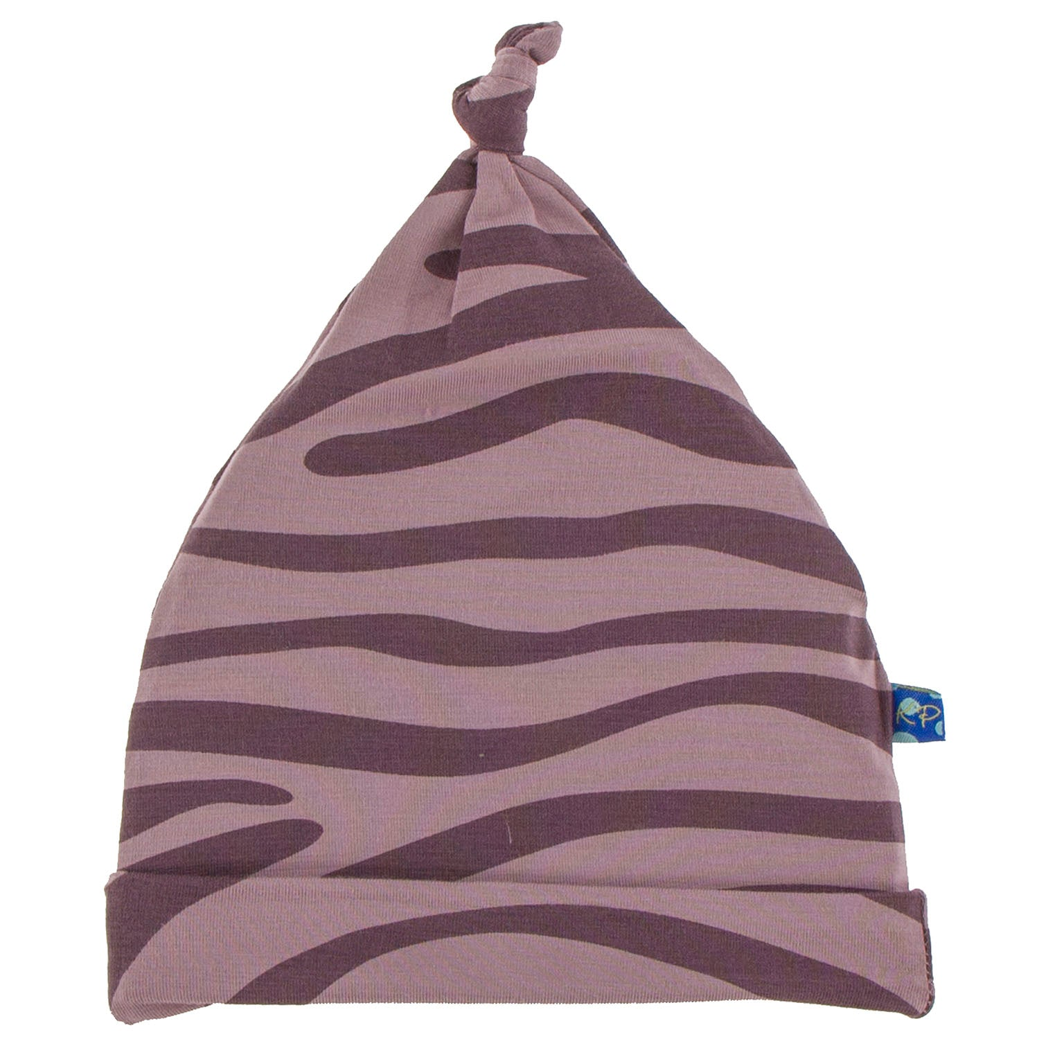 KicKee Pants Knot Hat Elderberry Zebra