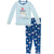 KicKee Pants Long Sleeve Pajama Set Navy Education
