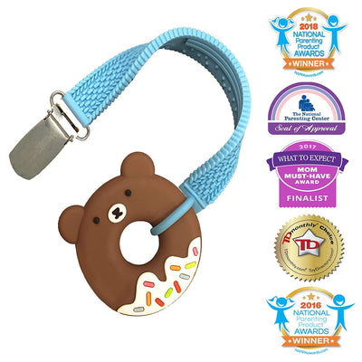 Silli Chews Mini Bear Donut Teether with Strap Set