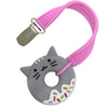 Silli Chews Mini Cat Donut Teether with Strap Set
