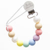 Loulou Lollipop Silicone Pacifier Clip - Cotton Candy