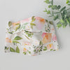 Reusable Face Mask with Filter Pocket - Peach and Mint Blooms (Teen/Adult)