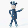 Pebble Organic Fair Trade Hand Knit Rattle - Blue Giraffe
