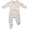 ZippyJamz Organic Baby Footed Sleeper Blushing Kisses