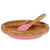 Avanchy Bamboo Suction Divided Baby Plate and Spoon