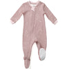 ZippyJamz Organic Baby Footed Sleeper w/ Inseam Zipper - Galaxy Love Pink