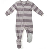 ZippyJamz Organic Baby Footed Sleeper Purple Stripes