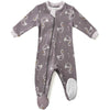 ZippyJamz Organic Baby Footed Sleeper Sweet Swans