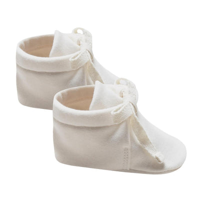 Quincy Mae Organic Baby Booties Ivory