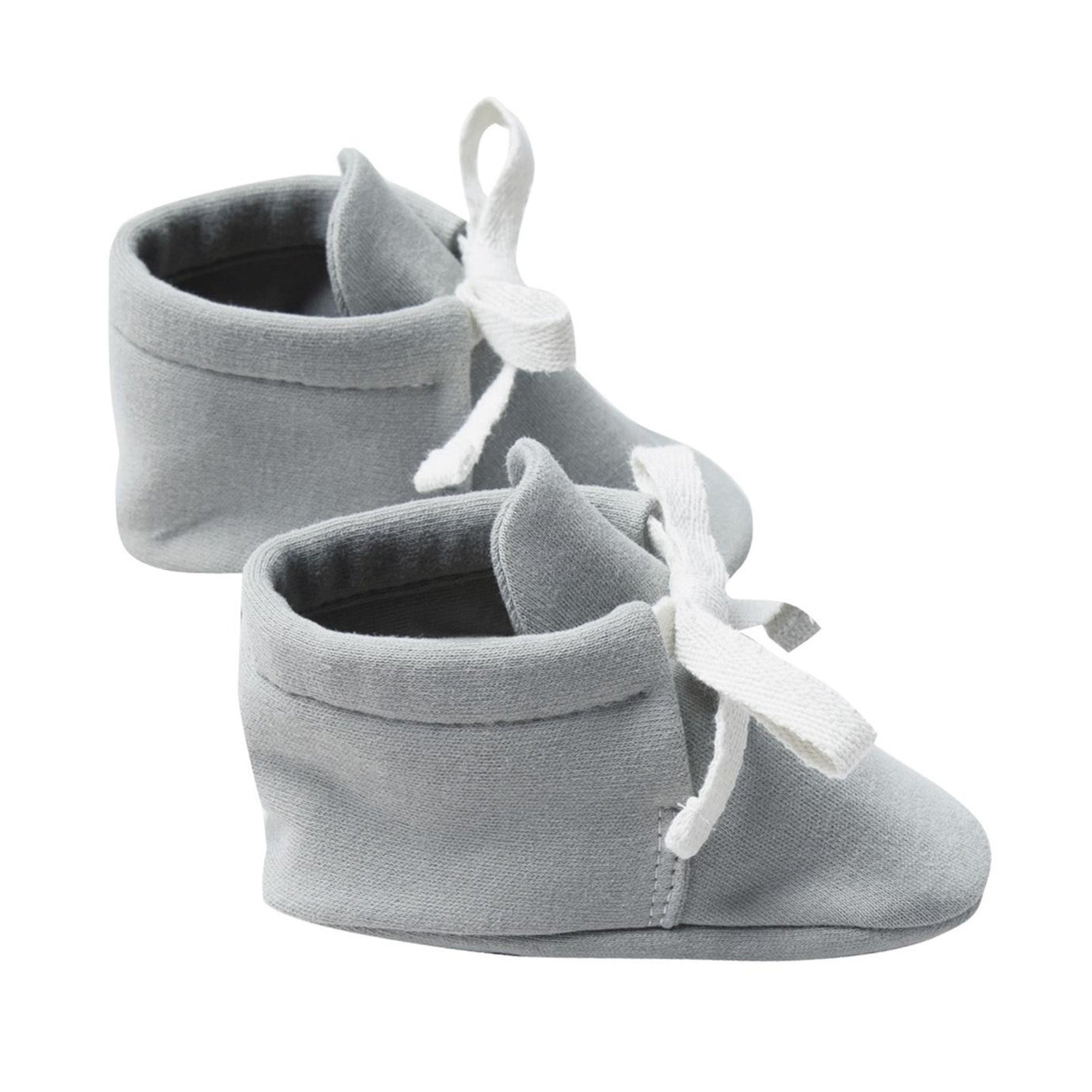 Quincy Mae Organic Baby Booties Dusty Blue