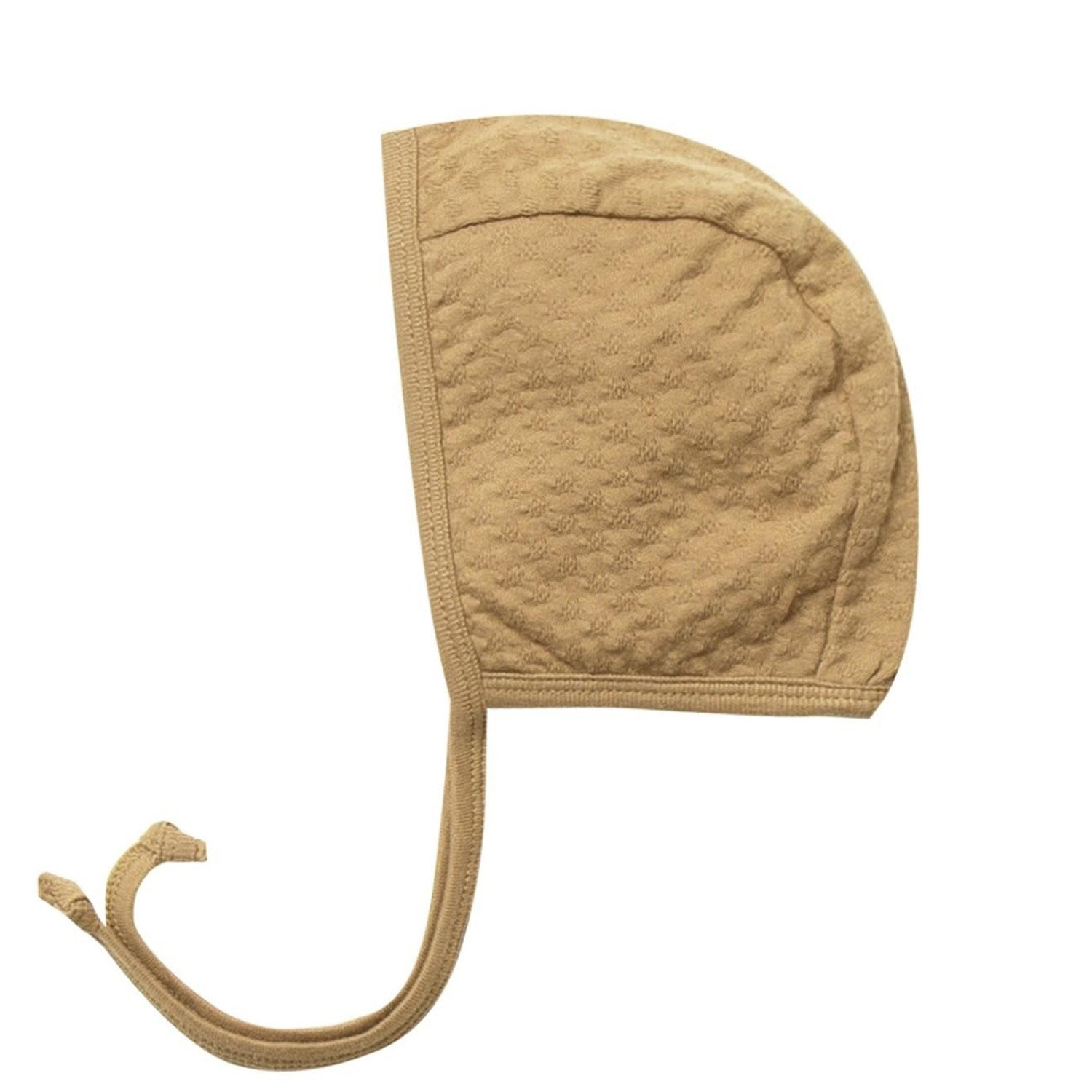 Quincy Mae Pointelle Baby Bonnet Honey