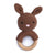 Cheengoo Bunny Rattle Teether Mocha