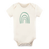 Tenth & Pine Organic Baby Short Sleeve Bodysuit - Seafoam Rainbow