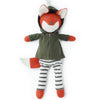 Hazel Village Organic Reginald Fox Doll in Forest Green Jacket and Striped Pants