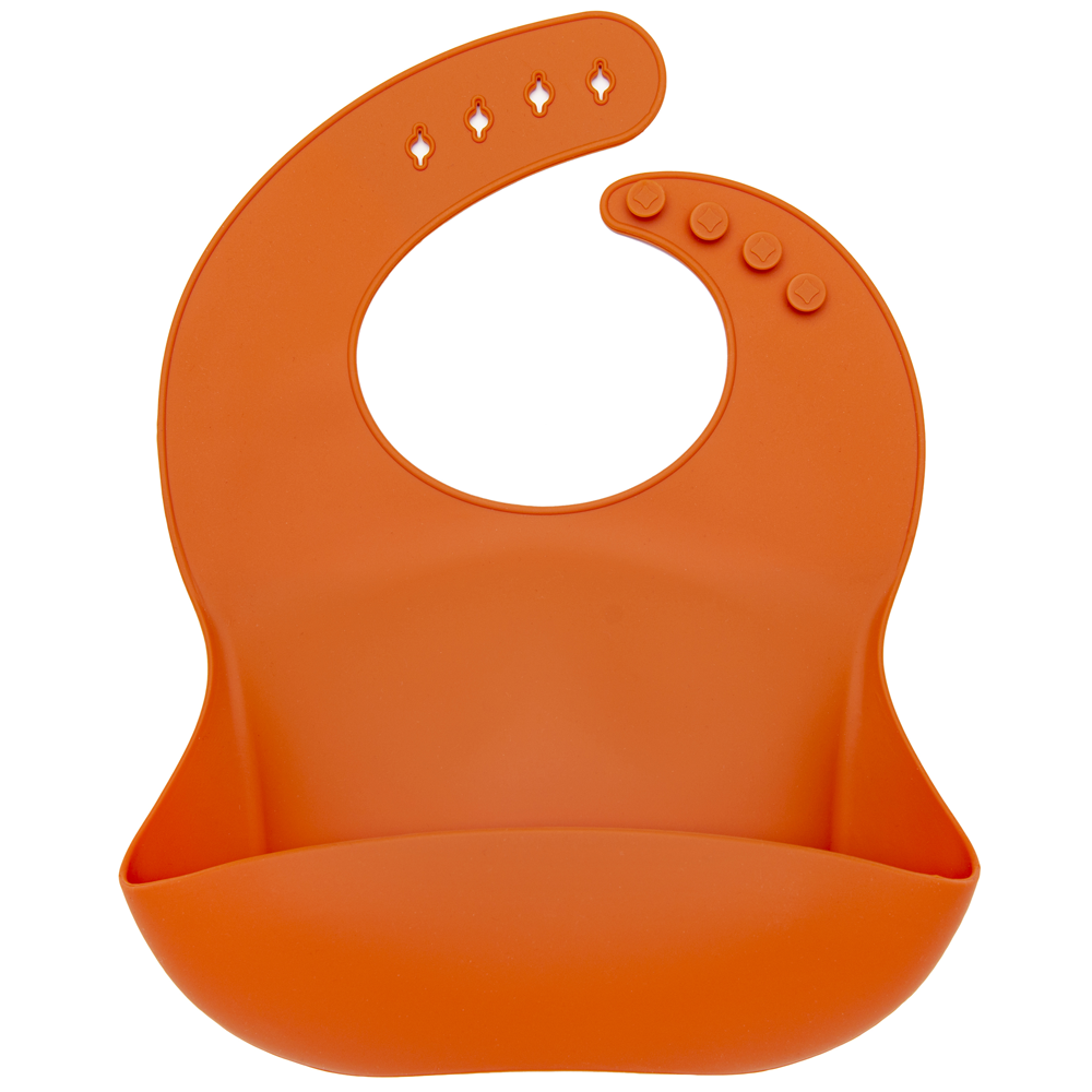 Loulou Lollipop Silicone Bib - Burnt Orange