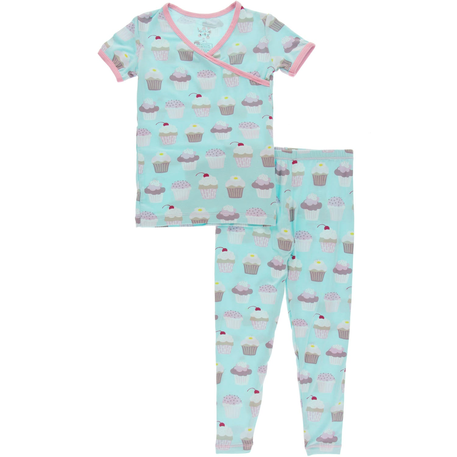 KicKee Pants Short Sleeve Kimono Pajama Set - Summer Sky Cupcakes