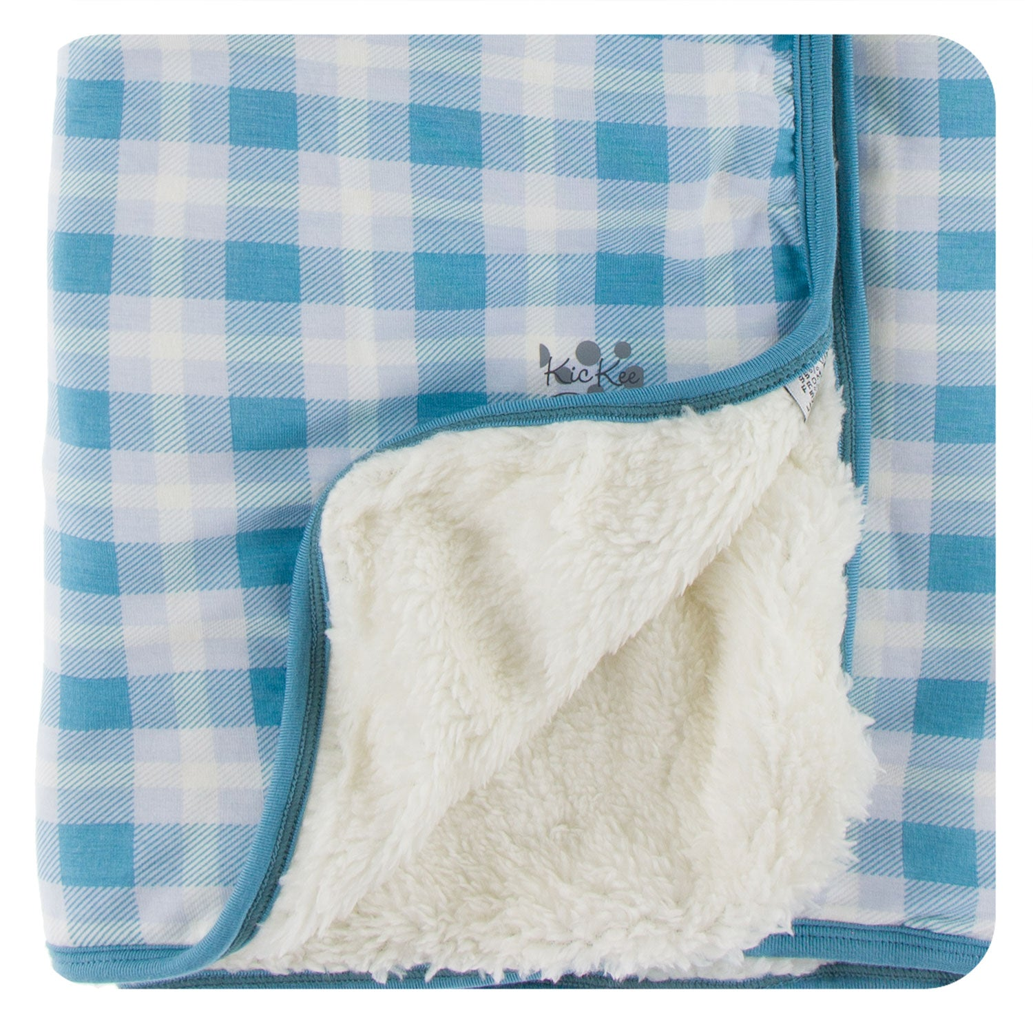KicKee Pants Stroller Blanket - Blue Moon Holiday Plaid