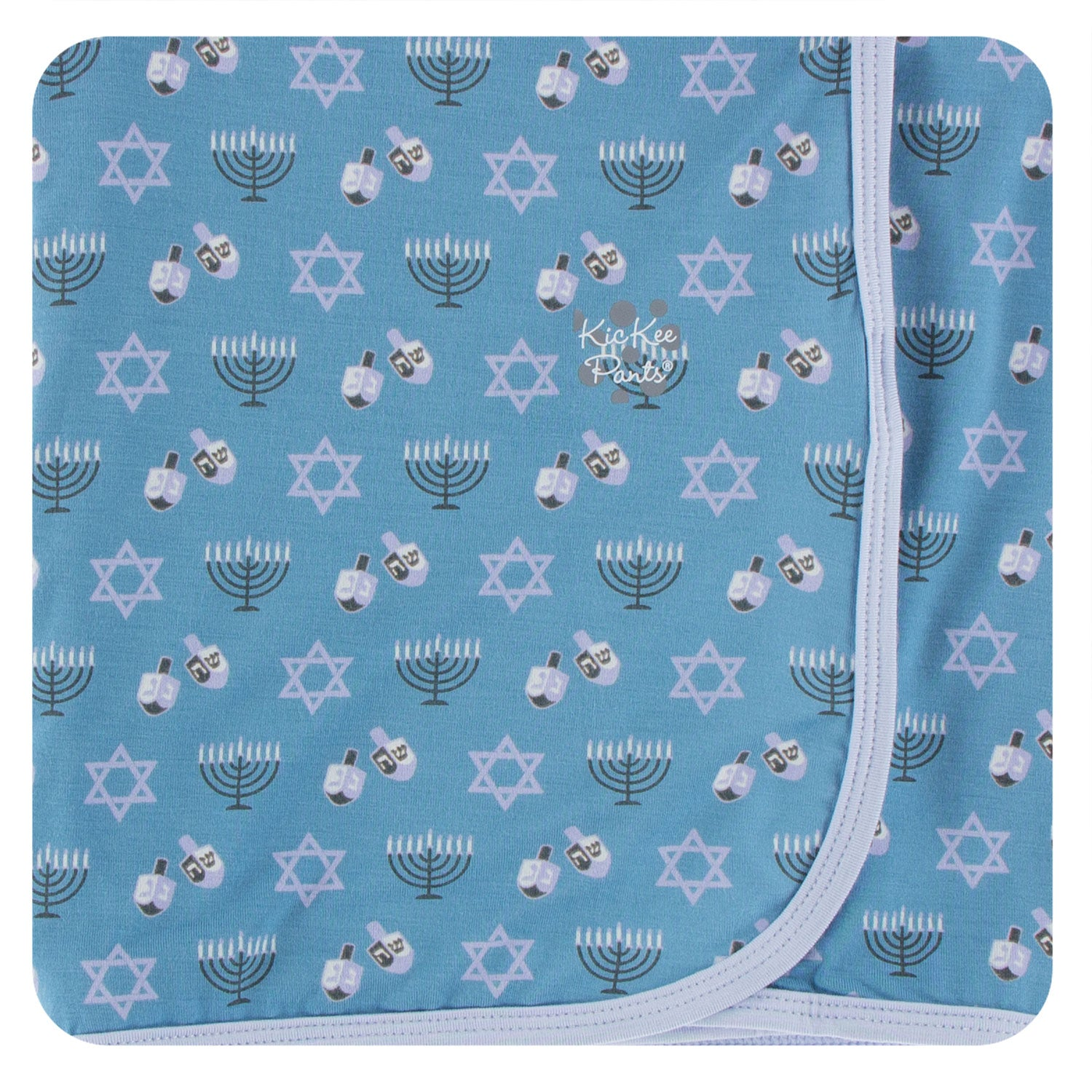 KicKee Pants Swaddle Blanket Blue Moon Hanukkah