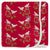 KicKee Pants Swaddle Blanket Crimson Kissing Birds