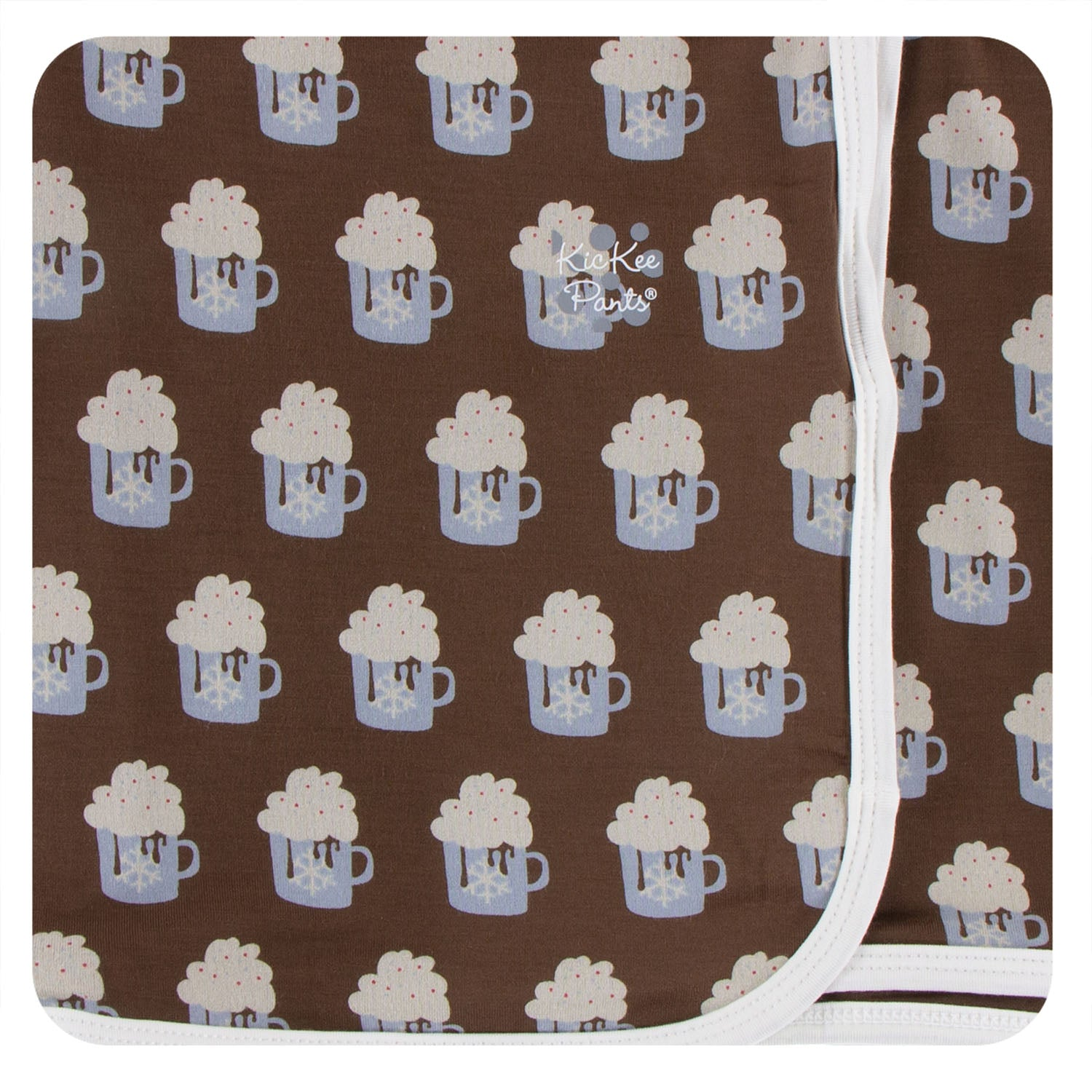 KicKee Pants Swaddle Blanket Hot Cocoa