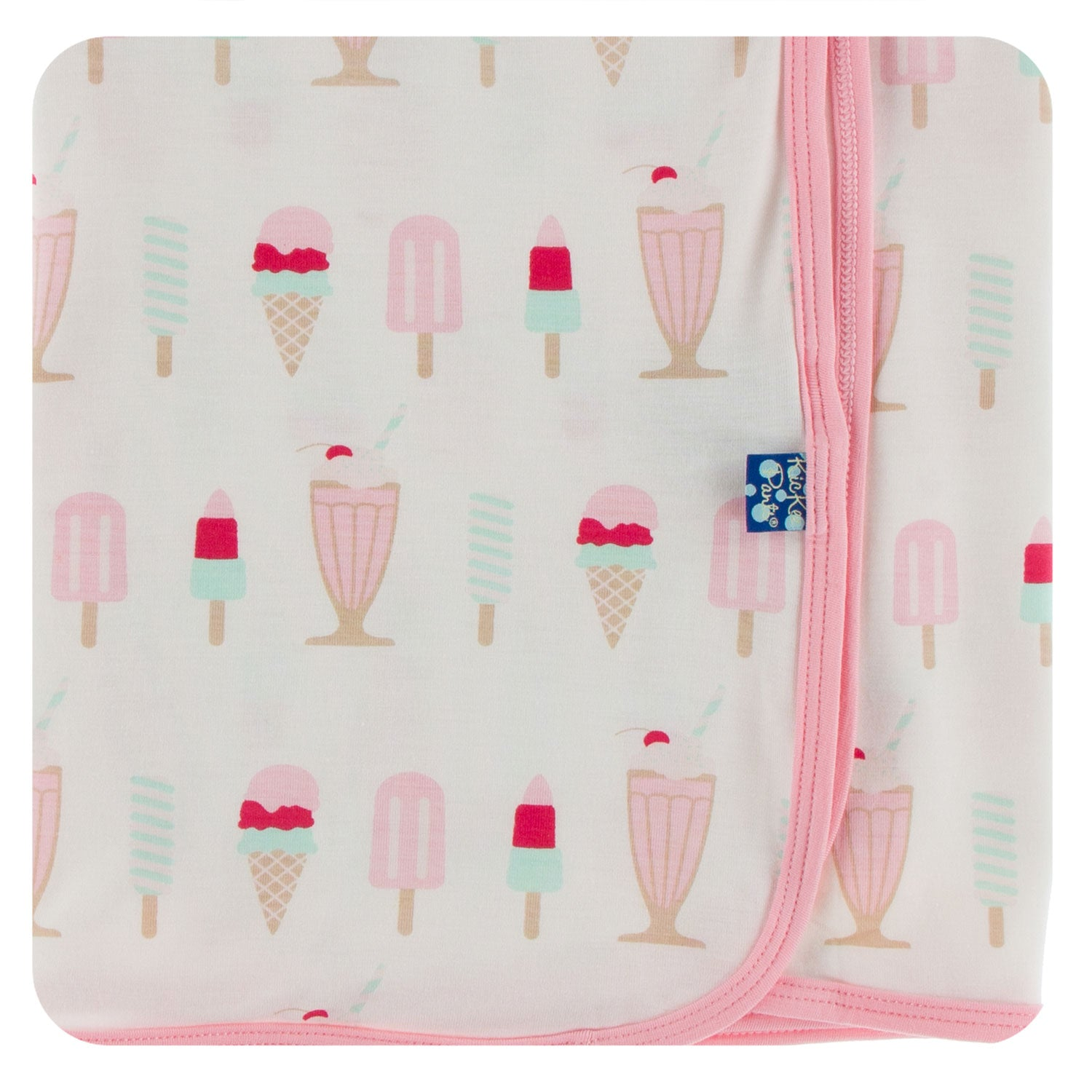 KicKee Pants Swaddling Blanket - Natural Ice Cream Shop