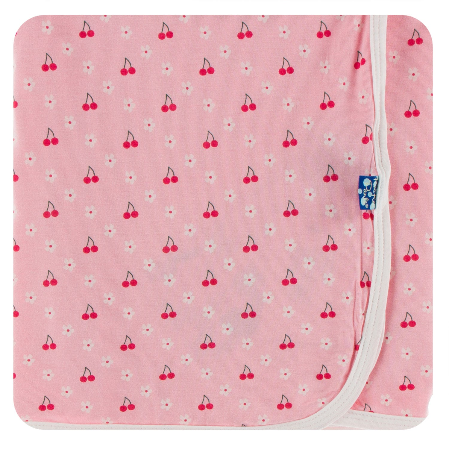 KicKee Pants Swaddling Blanket - Lotus Cherries and Blossoms