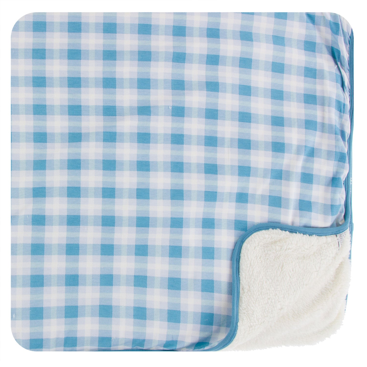 KicKee Pants Sherpa Lined Toddler Blanket - Blue Moon 2020 Holiday Plaid