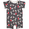 Winter Water Factory Organic Summer Romper Dalmations Charcoal