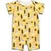 Winter Water Factory Organic Summer Romper Giraffes Yellow