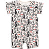 Winter Water Factory Organic Summer Romper Toucans Black