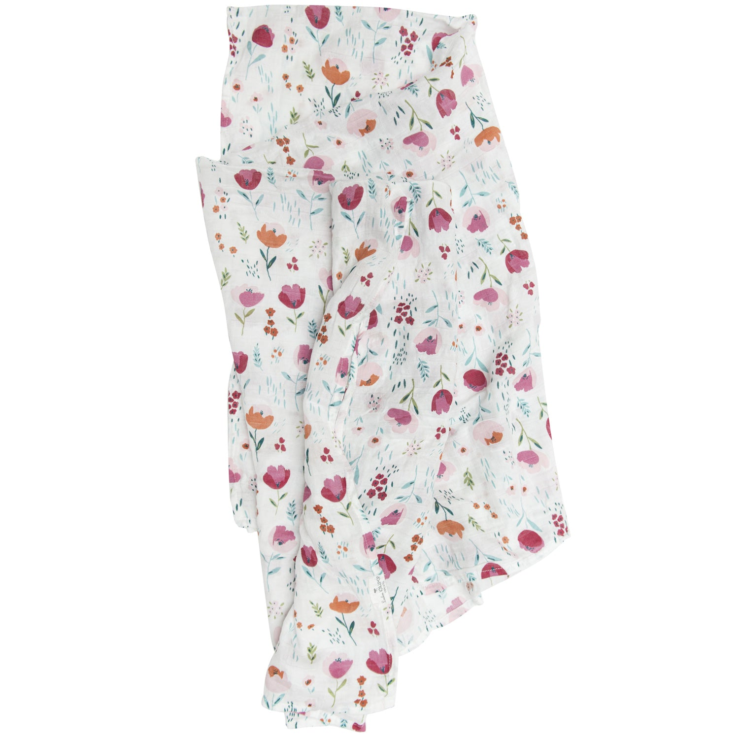 Loulou Lollipop Bamboo Muslin Swaddle Blanket - Rosey Bloom