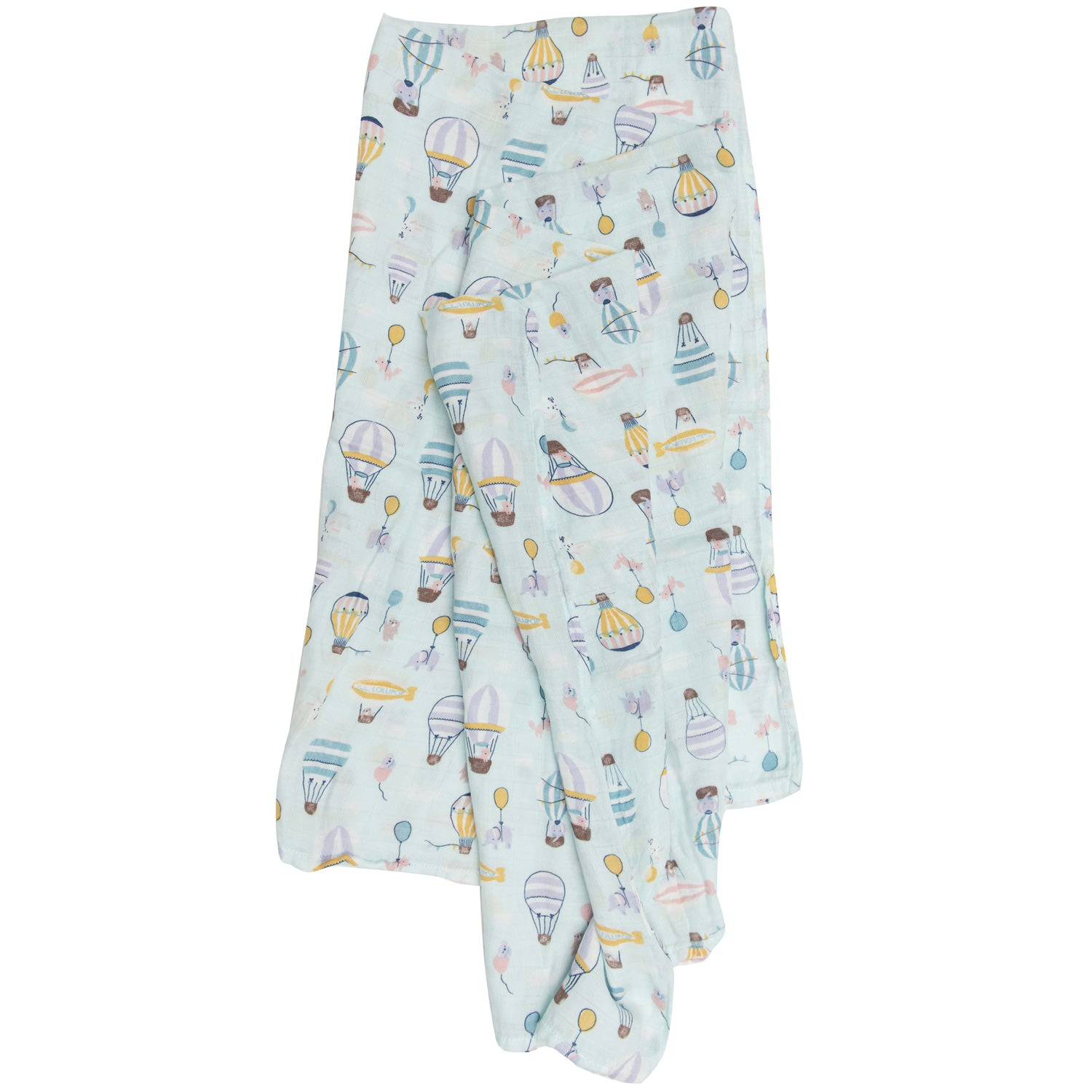 Loulou Lollipop Bamboo Muslin Swaddle Blanket - Up Up Away