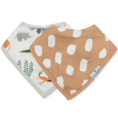 Loulou Lollipop Muslin Bandana Bib Set Safari Jungle