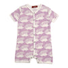 Milkbarn Organic Cotton Shortall Lavender Hedgehog