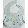 Loulou Lollipop Silicone Bib - Avocado