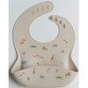 Loulou Lollipop Silicone Bib - Safari