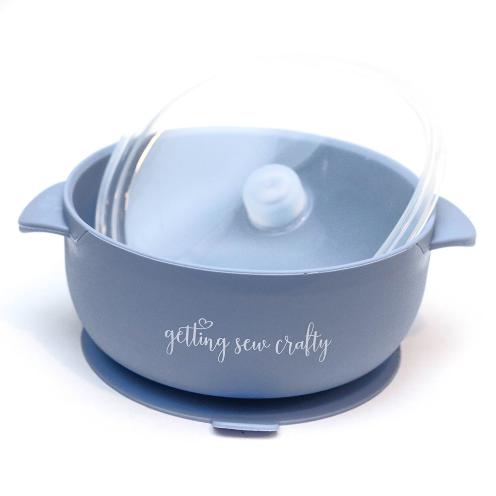 Silicone Suction Bowl - Hydrangea