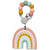 Loulou Lollipop Silicone Baby Teether and Holder Set Pastel Rainbow