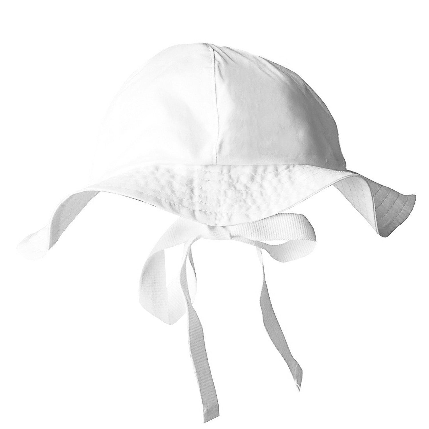 Under the Nile Organic Poplin Sun Hat White