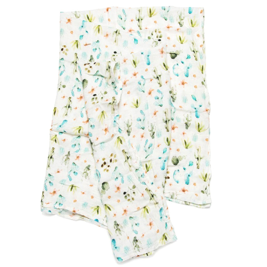 Loulou Lollipop Bamboo Muslin Swaddle Blanket Cactus Floral